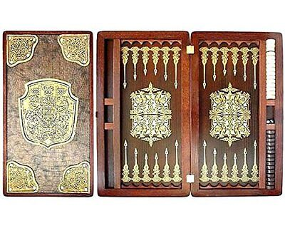 "Large Size Handmade Solid Wooden Backgammon Set Board Game ""Dynasty"""