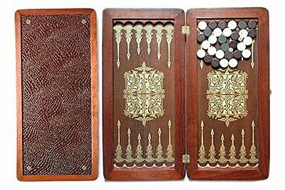 "Large Size Handmade Solid Wooden Backgammon Set Board Game ""Orion II"""