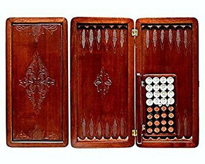 "Large Size Handmade Solid Wooden Backgammon Set Board Game ""Lux"""
