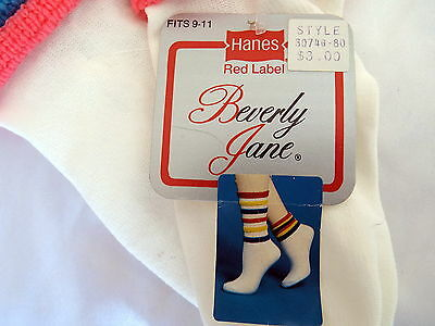 Costume Socks Clown? Crazy Unique Vintage New Sock 1980's 2 sizes 3 colors FUN!