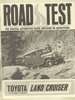 1966 Toyota Land Cruiser Hardtop Roadtest Brochure ww3185