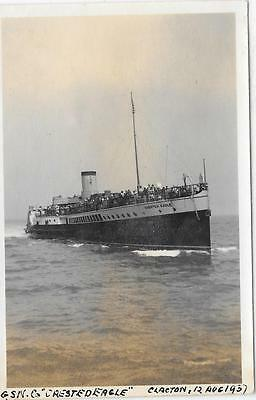 Paddle Steamer Crested Eagle at Clacton Pier Auguust 1937 Photo - GSNC