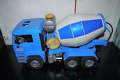 Bruder 02744 Cement Mixer 1:16 MAN TRUCK PLASTIC TOY INCOMPLETE