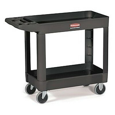 "Rubbermaid FG450089BLK 18""W x 33""H x 39""I Utility Cart Black (4500-89)"
