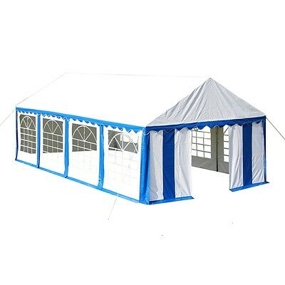 #bNew Gazebo Party Tent Canopy Marquee Blue 4x8m Extra Large for Outdoor Events