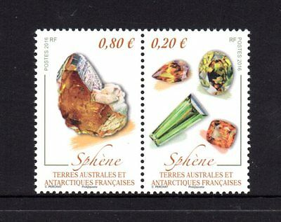 French Antarctic Territory 2016 Minerals Pair MNH