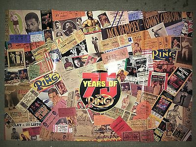 Ring Boxing Magazine 75 Years Of The Ring Large Fold-Out Poster