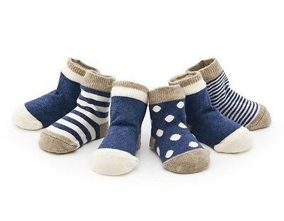 4pairs/lot Newborn Baby Infant Boy Girl Toddler Casual Cotton Socks Winter Sock