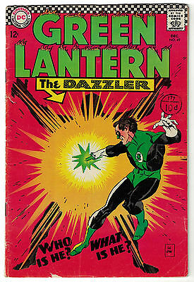DC Comics GREEN LANTERN Issue 49 The Dazzler Who Is He? What Is He? VG/F