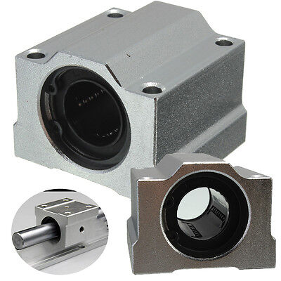 1PC Aluminum Alloy SC20UU 20mm Linear Ball Bearing Motion Slide Bushing For CNC
