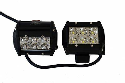 Raptor 4x4 LED Rectangular Spotlights 36w Recovery Lighting Off Road Driving