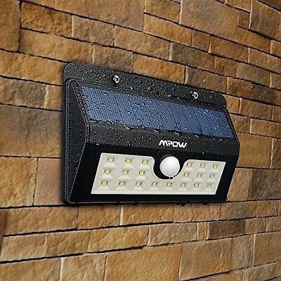 (20 Bright Nodes)LED Solar Lights, Mpow 3-in-1 Wireless Weatherproof Security 3