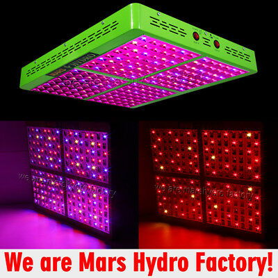 Mars Reflector 192 Led Grow Light Panel Full Spectrum Indoor Hydro Plant 388W
