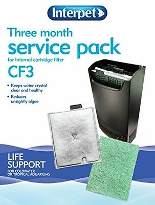 Interpet 3 Month Service Kit Cartridge Filter - CF3 Free Delivery BRAND NEW