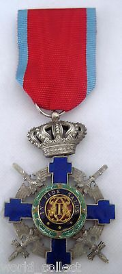 Romania Romanian Royal Order of the Star 5th class with swords, WWII emission!