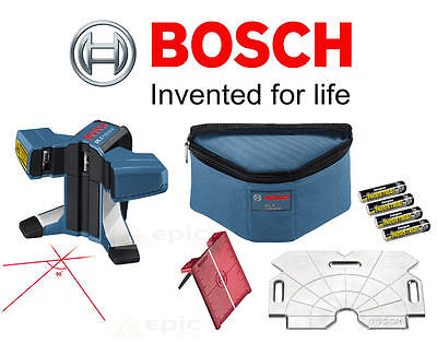 BOSCH Professional 3 Cross Line Floor/Wall Tile/Tiling Laser Level + Pouch GTL3