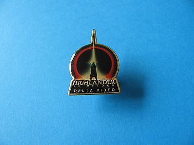 Vintage Highlander Delta Video Pin Badge. Film. VGC. Le Retour. (French)