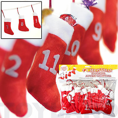 Christmas Stocking Advent Calender Bunting Add Your Own Toys Gifts Treats Etc