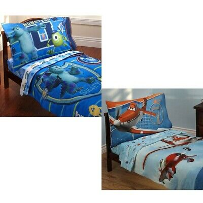New Boys Disney Toddler Bedding Set Cute Nursery Comforter Sheets Pillowcase