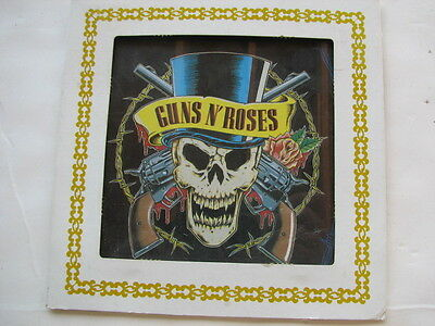 1980S Guns N' Roses, Death Head Carnival Prize Painted Glass, Wall Hanging