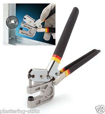 """High Quality 10"""" Stud Crimper TPR handle Punch Metal Lock Dry Wall Hand Tool"""