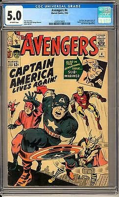 Avengers #4 CGC 5.0 (OW) 1st Silver Age Captain America