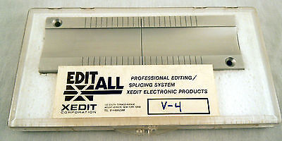 EDITALL V-4 Splicing Block for 1in Video Tape - New, Free Shipping