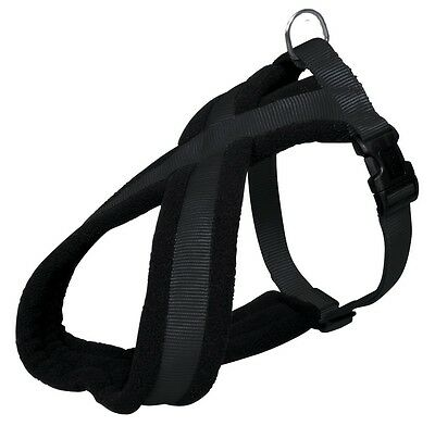 Trixe Extra Large L/XL Black Soft Fleece Lined Padded Dog Harness 20421