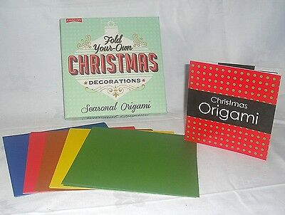 Fold Your Own Christmas Decorations Kit Seasonal Origami Xmas Stocking Filler
