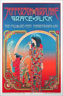 Jefferson Airplane Poster Fillmore East Artist's Edition Signed by David Byrd