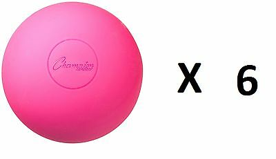 Champion Lacrosse Ball Official NFHS NCAA Massage Therapy-PINK (6-Pack)