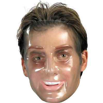 Transparent Young Man Mask Fancy Dress Up Halloween Adult Costume Accessory