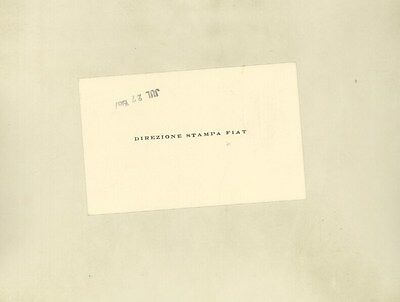 1967 Fiat Factory Compliments Card ww3203