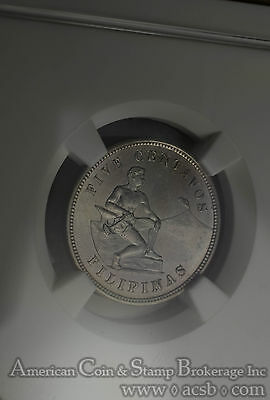 Philippines 5 Centavos 1904 MS64 NGC copper-nickel KM#164 Frosty Semi PL