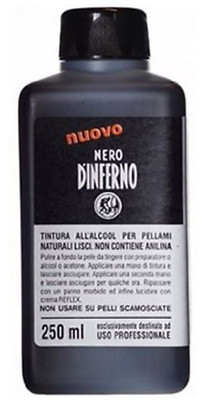 NERO D'INFERNO - PERMANENT STAINING INK - 250ml - LEATHER DYE - 10 COLOURS