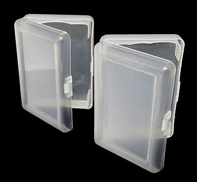 Buy 2 Get 1 Free Transparent 1 Deck Holder Case Bridge Size Playing Cards *
