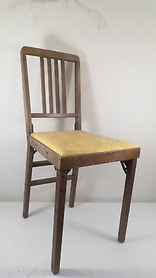 Vintage Leg-O-Matic Lorraine Metal Mfg Folding Chair Travel Tiny House w/ Label
