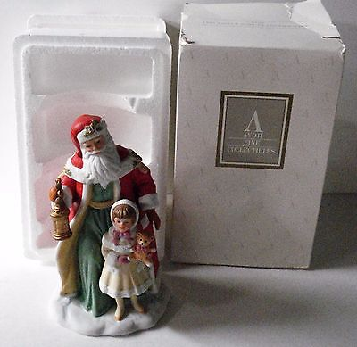 Avon 1995 Porcelain Santa Figurine - Mint in Box