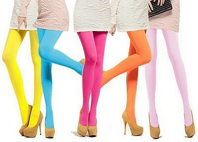 Women Girl Sexy Opaque Footed Tights Stretchy Pantyhose Stockings Elastic Socks