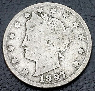 1897 United States Liberty Nickel - 5 Cents - FREE COMBINED S/H