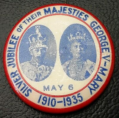 1935 Silver Jubilee Pom Bakeries Pin - Free Combined S&h