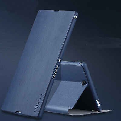 Luxury Slim  Leather Flip Stand Cover Skin Case For Sony Xperia Z Ultra XL39H