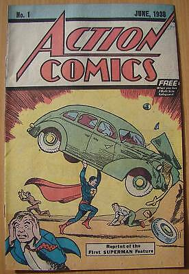SUPERMAN Rare 1st SAFEGUARD Action Comic # 1 copy of 1938 first issue
