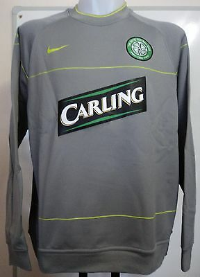 Celtic 2009/10 Player Issue Grey Hooped Sweat Shirt By Nike Adults Xl Brand New