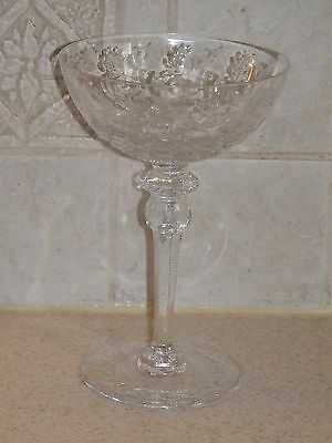 "ROGASKA CRYSTAL GALLIA PATTERN CHAMPAGE or TALL SHERBET 7 1/8"" EXCELLENT!"