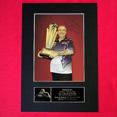 PHIL TAYLOR Mounted Signed Photo Reproduction Autograph Print A4 299