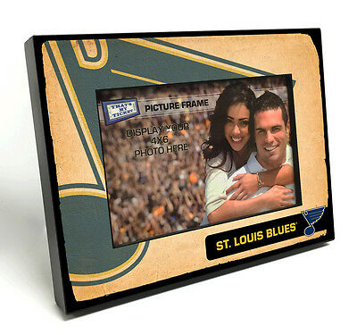 St Louis Blues Vintage Style Wooden 4x6 inch Picture Frame
