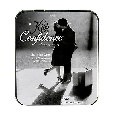 Vintage Style Kiss with Confidence Peppermints in Gift Tin x 1 Random Supplied