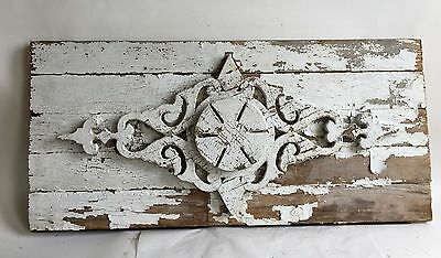 2 Antique 1890's Wood Victorian Architectural  Pediment White *Private listing*
