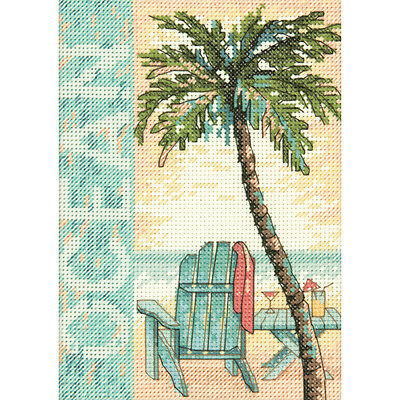 """""""Ocean Mini Counted Cross Stitch Kit-5""""""""X7"""""""" 14 Count"""""""